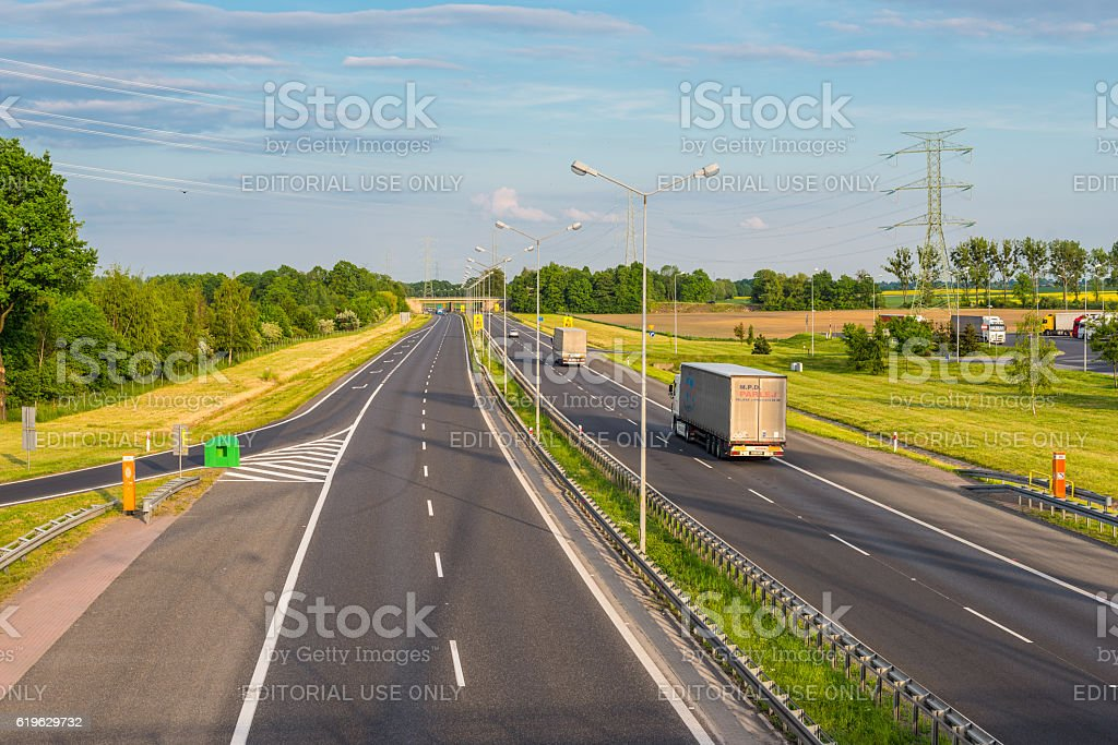 Highway A4 stock photo