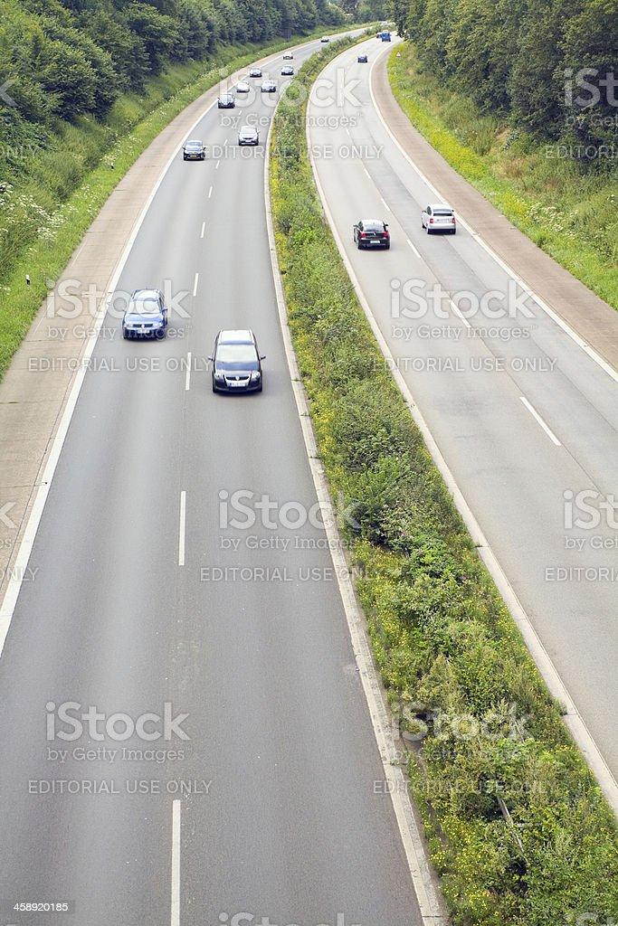 Highway A52 in North Rhine Westfalia stock photo