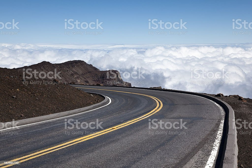 highway above the clouds stock photo