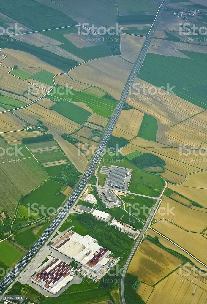 Highway aerial royalty-free stock photo