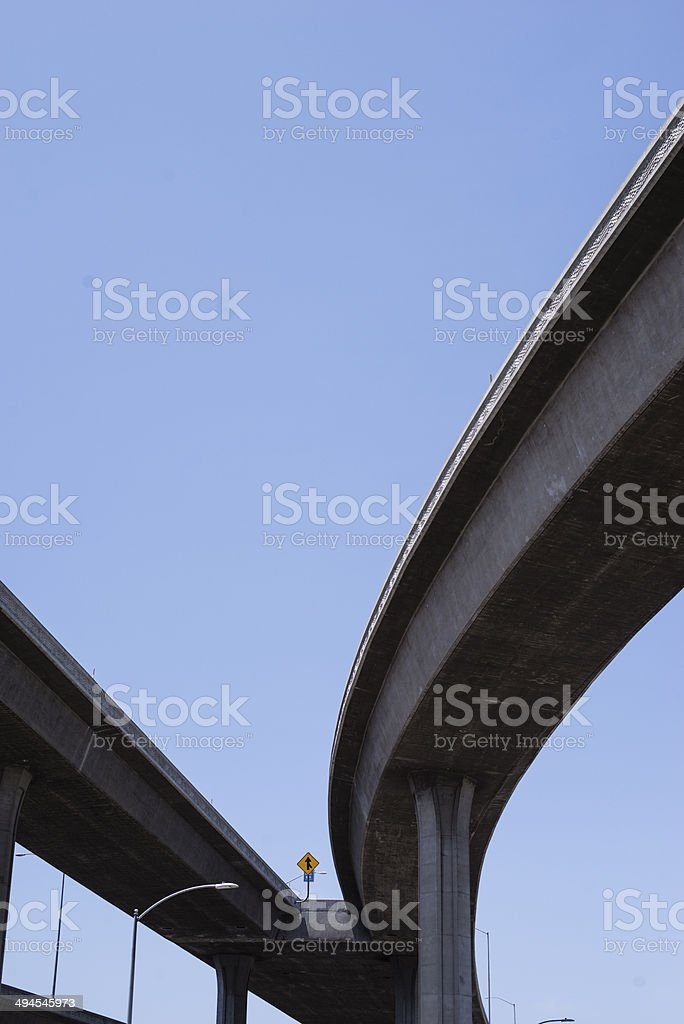 Highway and clear sky stock photo