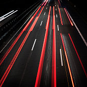 Highway at dusk - long exposure