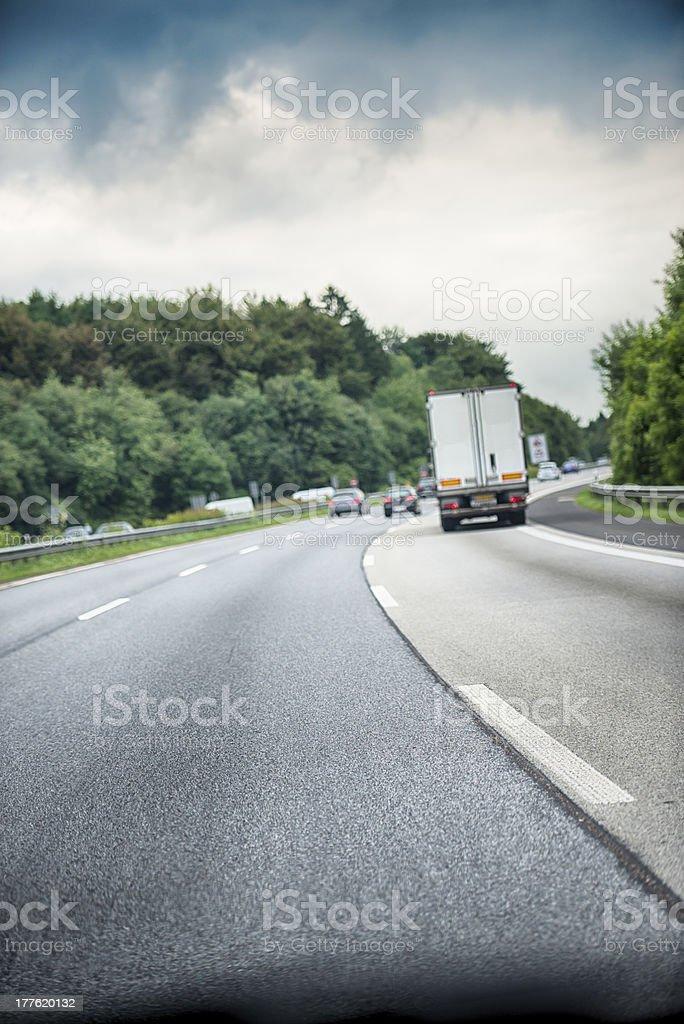 Highway Autobahn Germany Traffic royalty-free stock photo