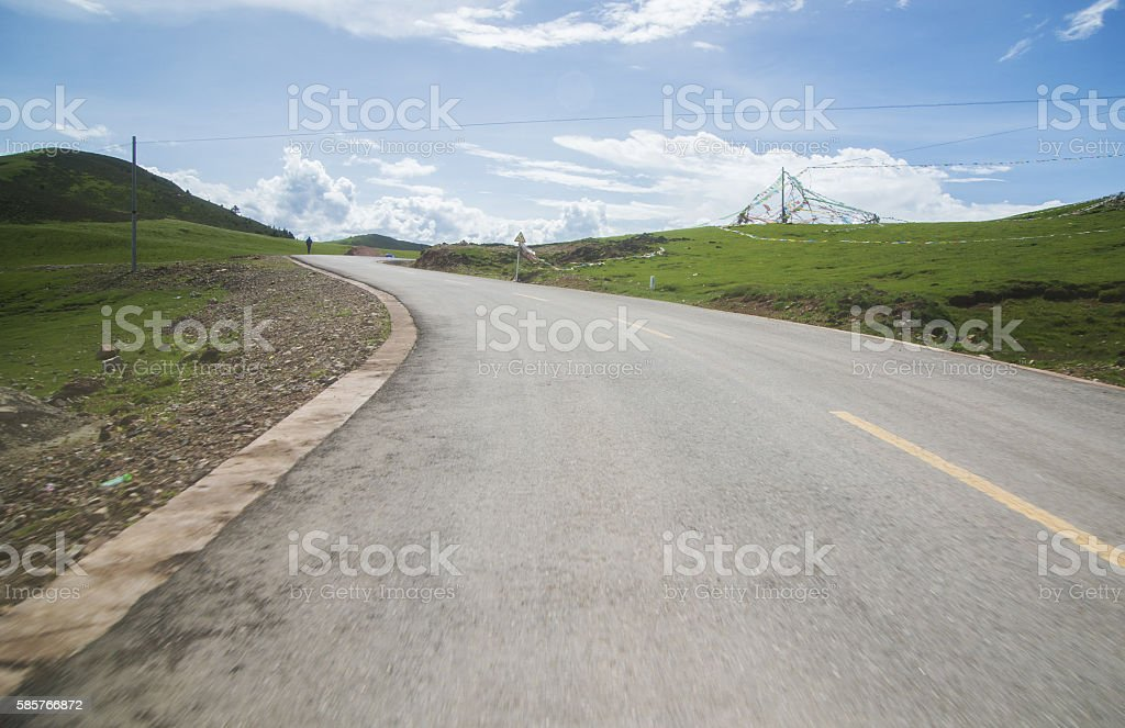 Highway background stock photo