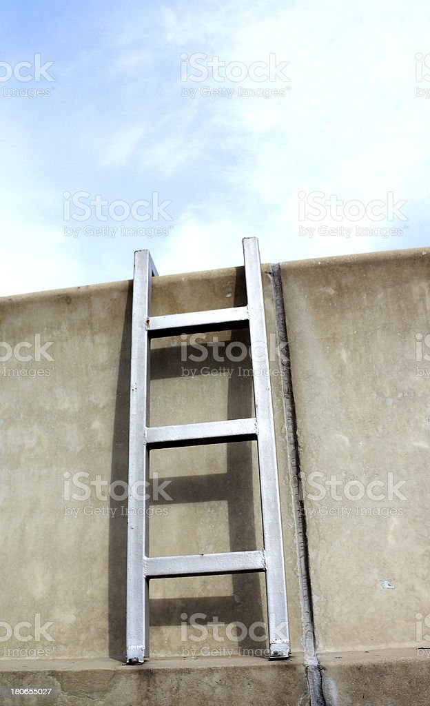 Highway barrier stairway on sky background royalty-free stock photo