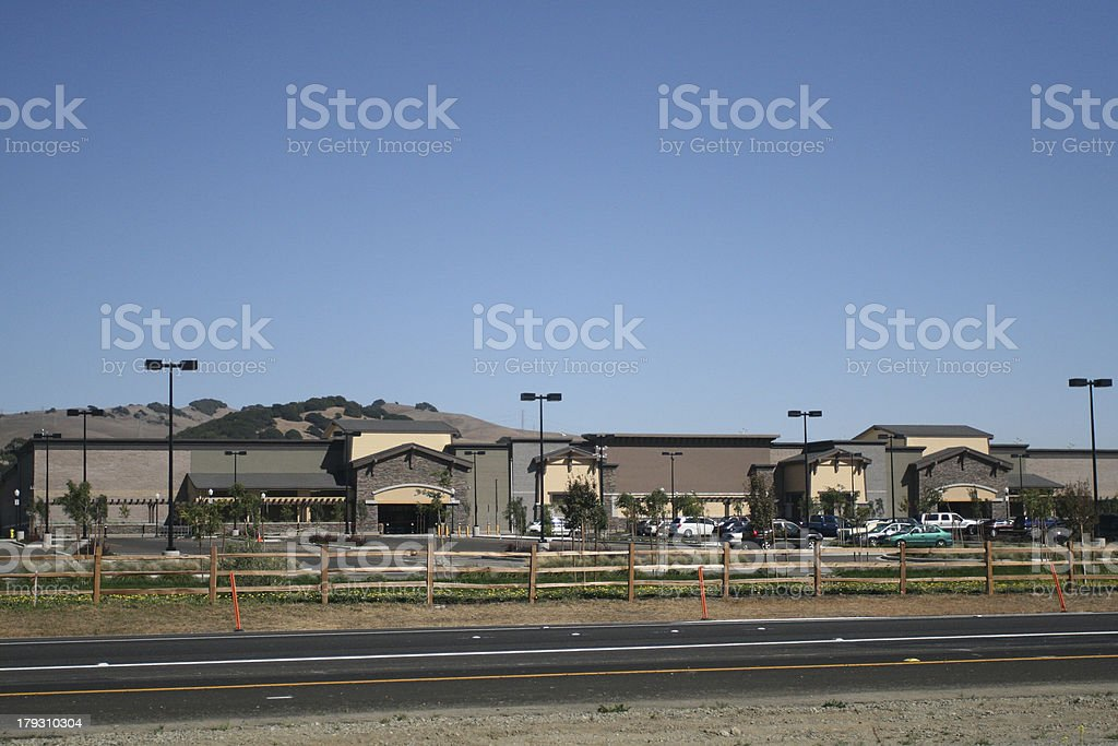 Highway Big Box Development stock photo