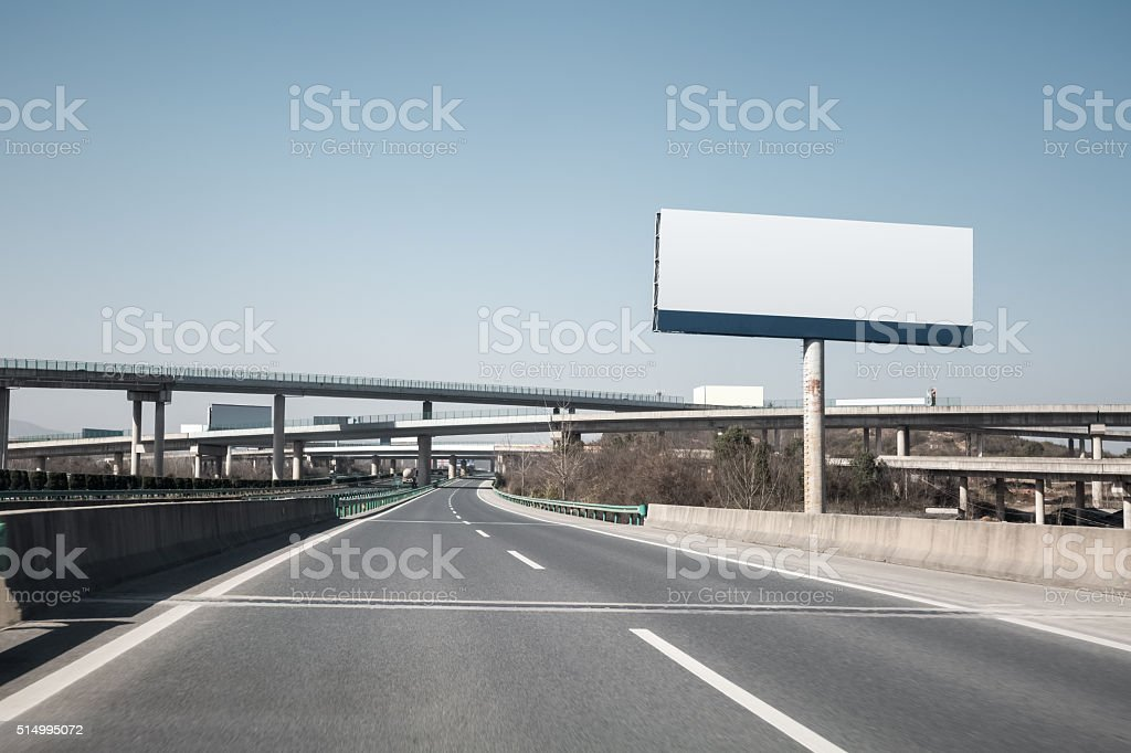 highway billboard stock photo