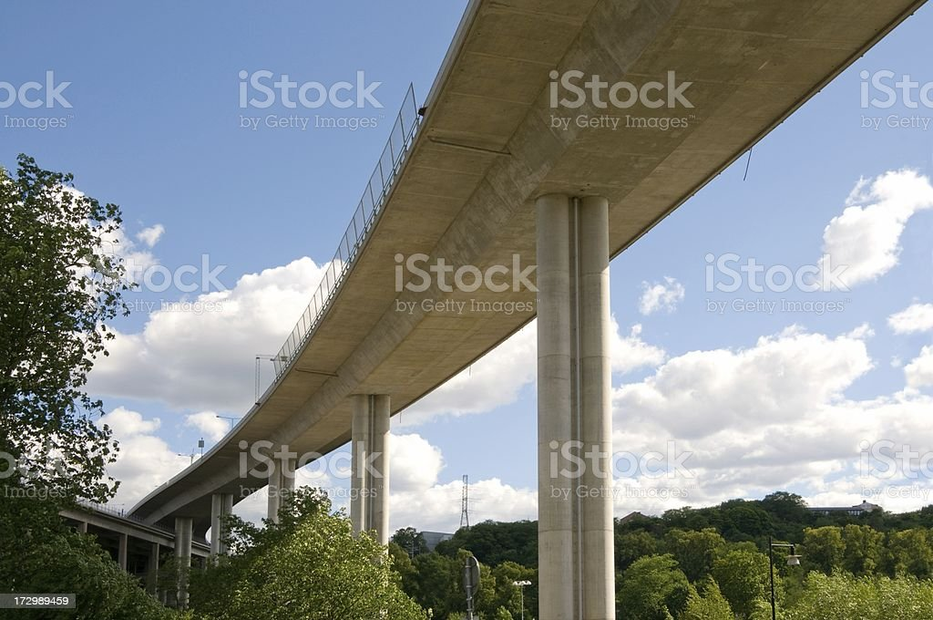 Highway bridge against blue sky royalty-free stock photo