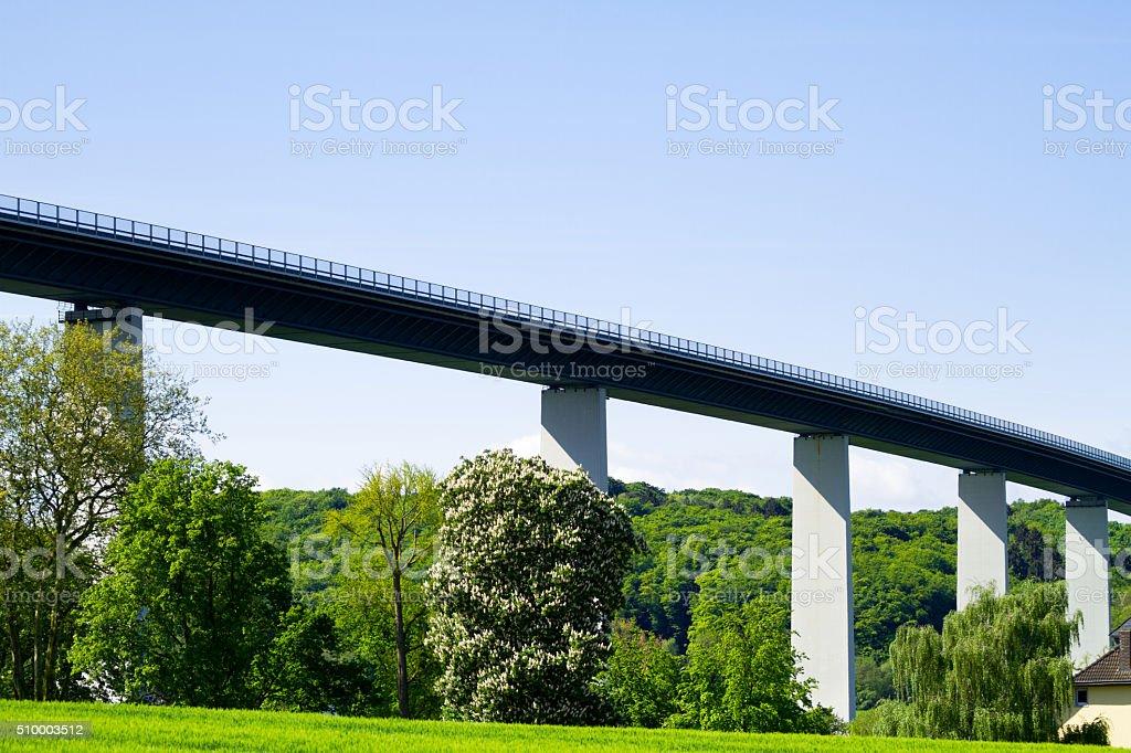 Highway bridge Ruhrtalbrücke stock photo