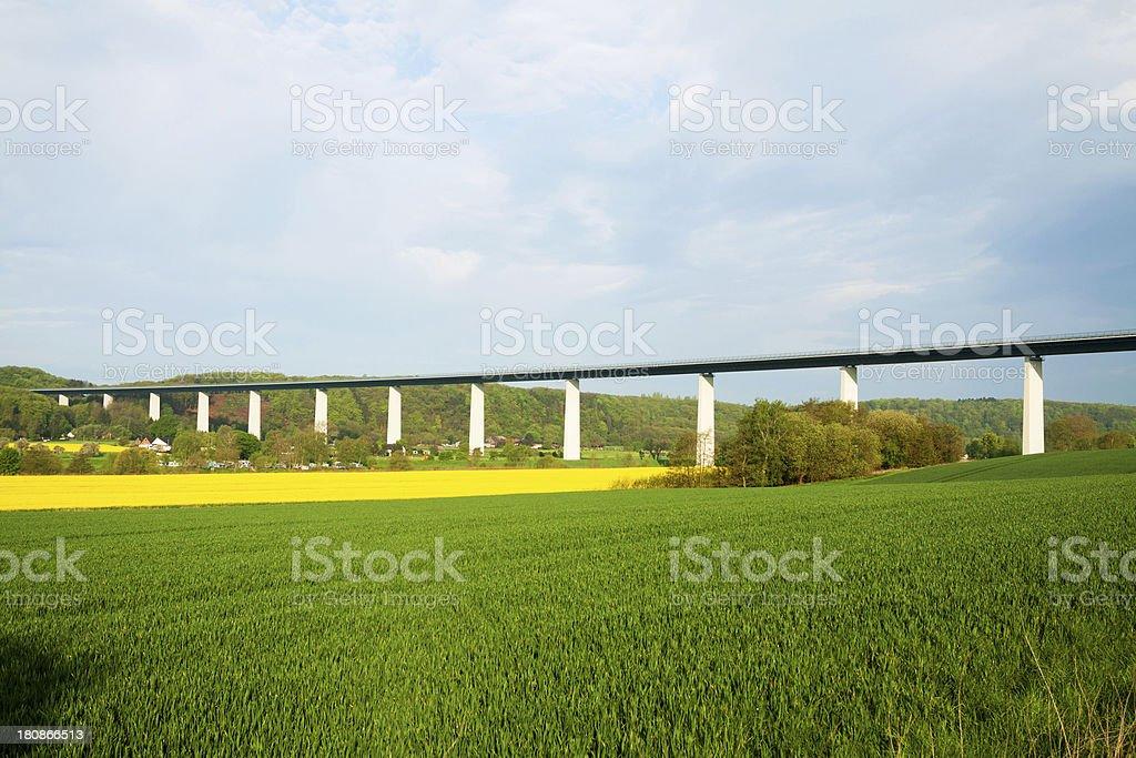 Highway bridge Ruhrtalbrucke stock photo