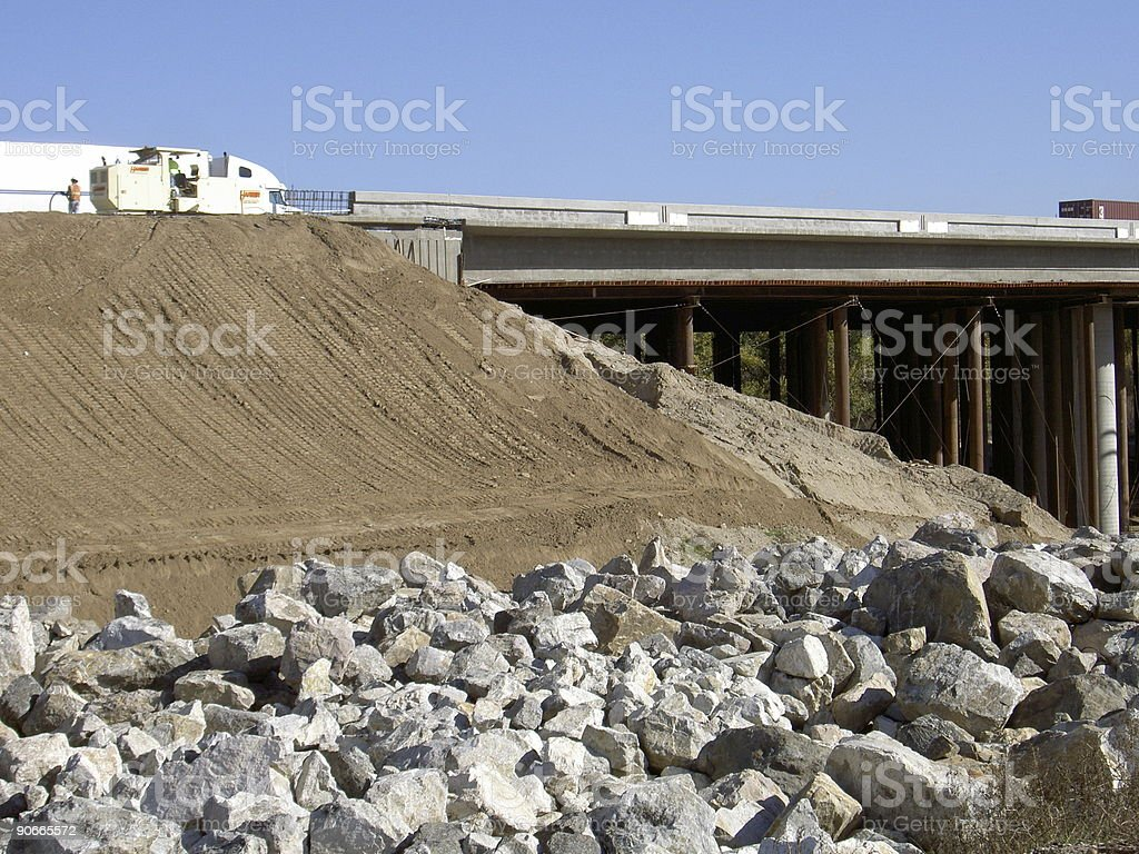Highway Building Project royalty-free stock photo