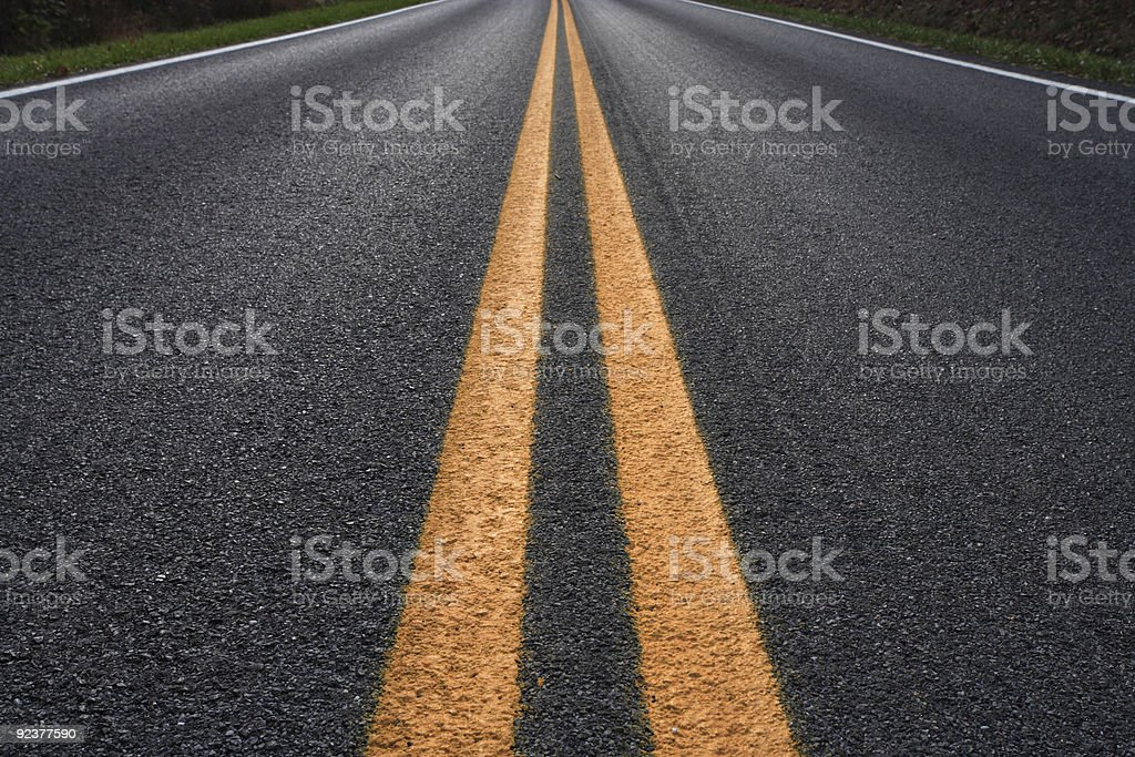Highway Center Lines royalty-free stock photo