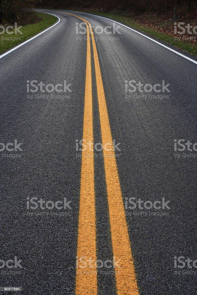 Highway Center Lines stock photo