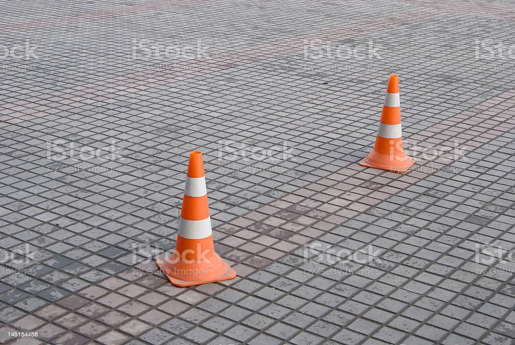 Highway Cones royalty-free stock photo