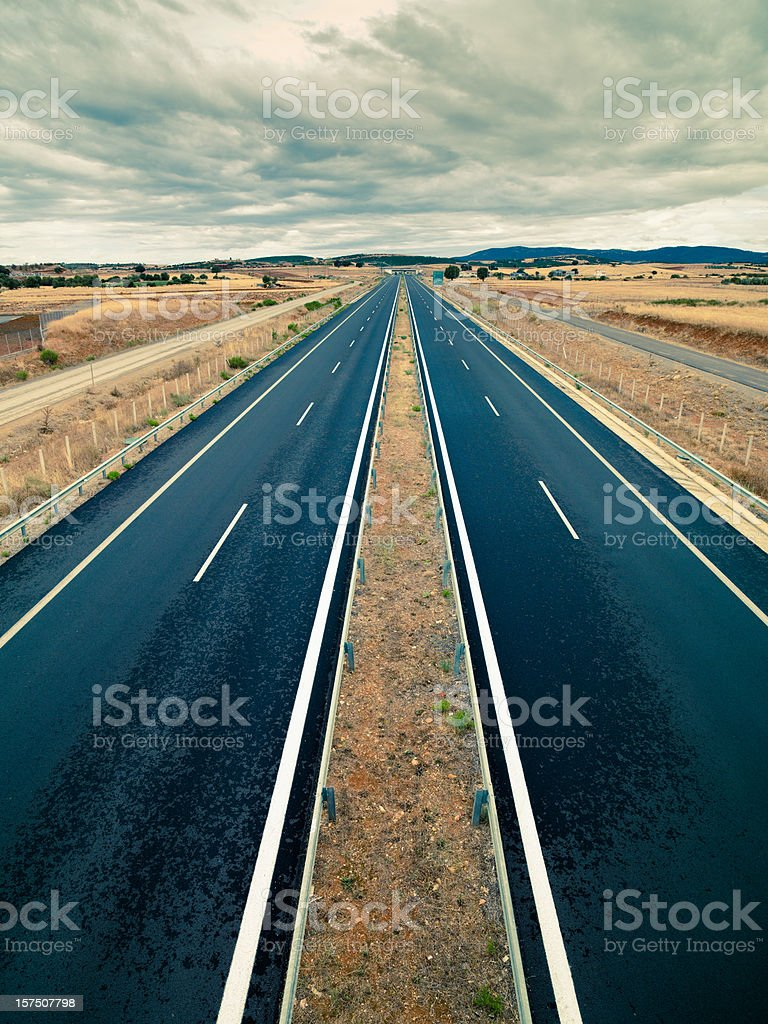 Highway Connecting Greece and Turkey Egnatia Odos stock photo