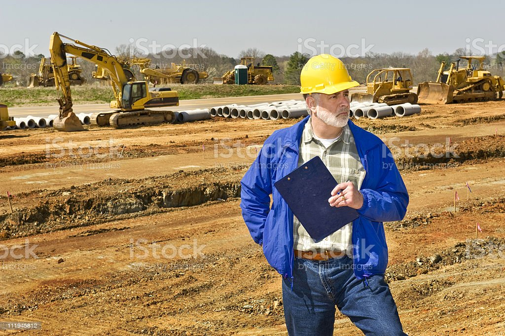 Highway Construction Foreman royalty-free stock photo