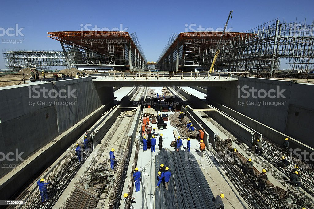Highway Construction royalty-free stock photo