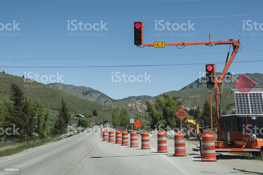 Highway construction stock photo