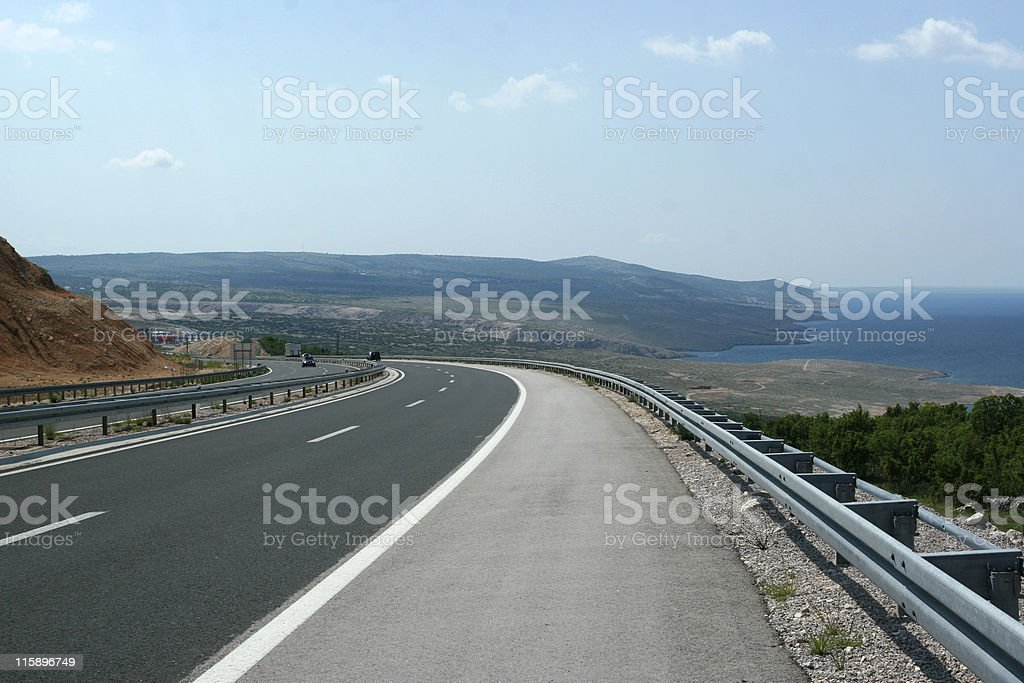 Highway curve stock photo