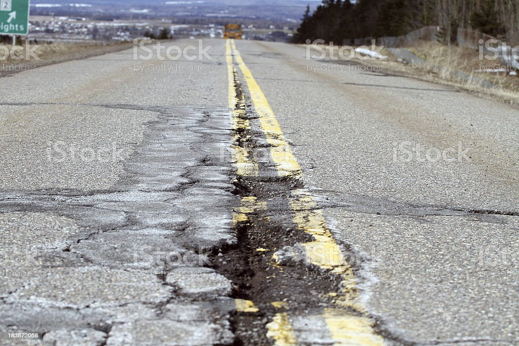 Highway Damage royalty-free stock photo