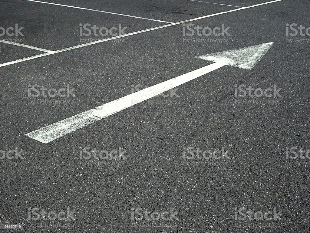 Highway direction arrow royalty-free stock photo