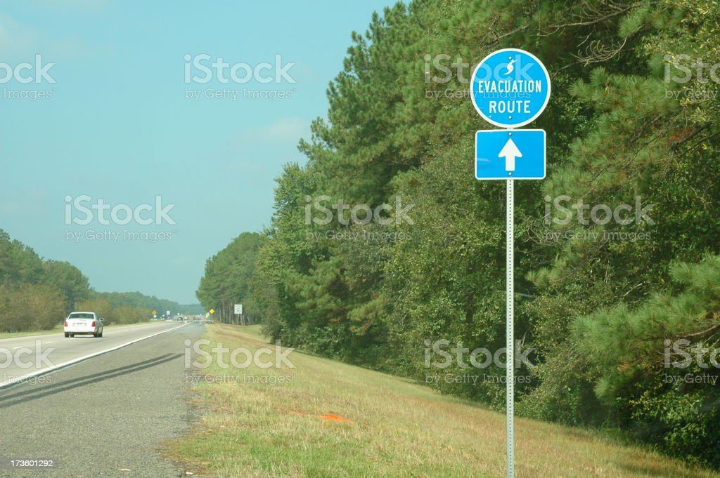 Highway Evacuation Route royalty-free stock photo