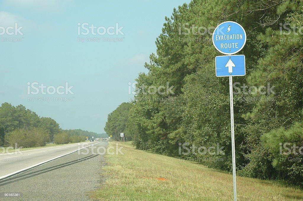 Highway Evacuation Route stock photo