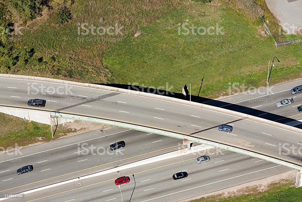 Highway flyover, Newport County, Rhode Island, USA stock photo