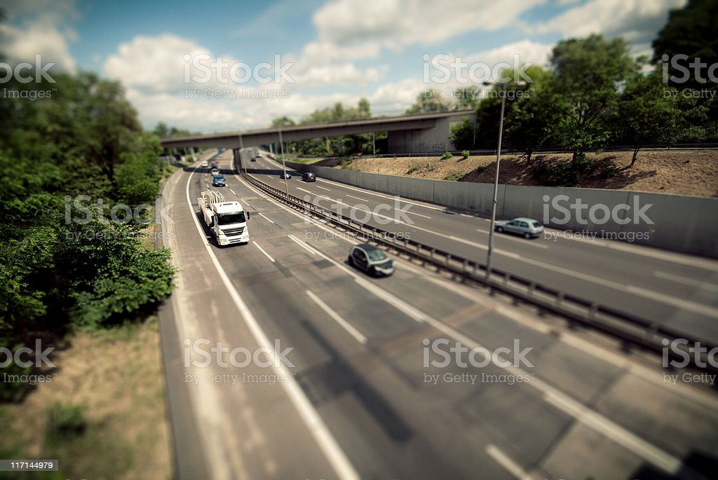 Highway from Above royalty-free stock photo