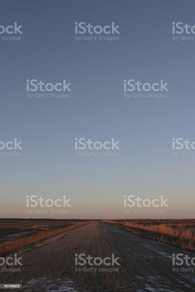 Highway Gravel royalty-free stock photo