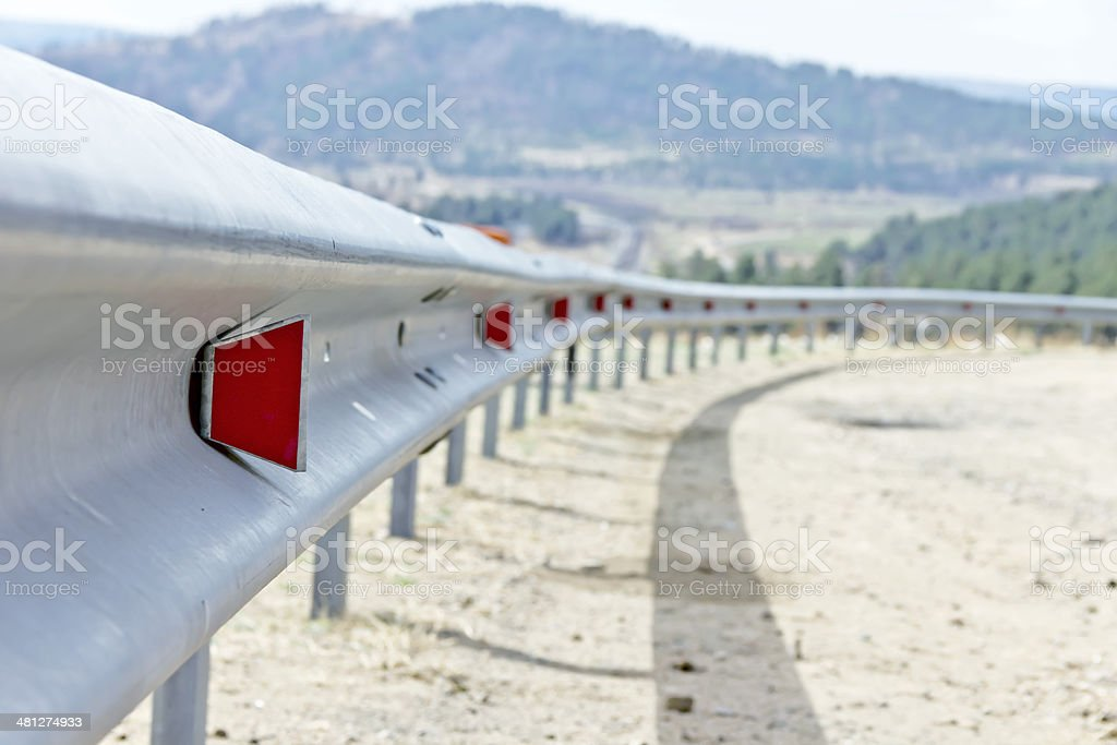 Highway guard rail stock photo