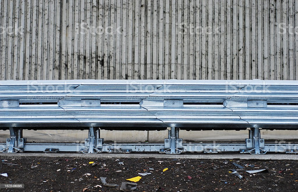 Highway guardrail royalty-free stock photo