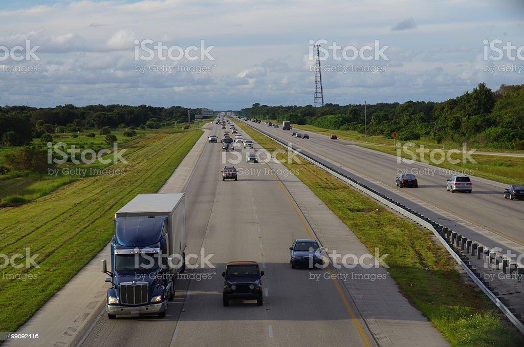 Highway I-95, Florida stock photo