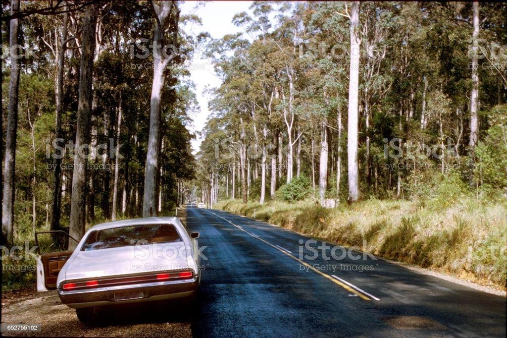 Highway in Australia stock photo
