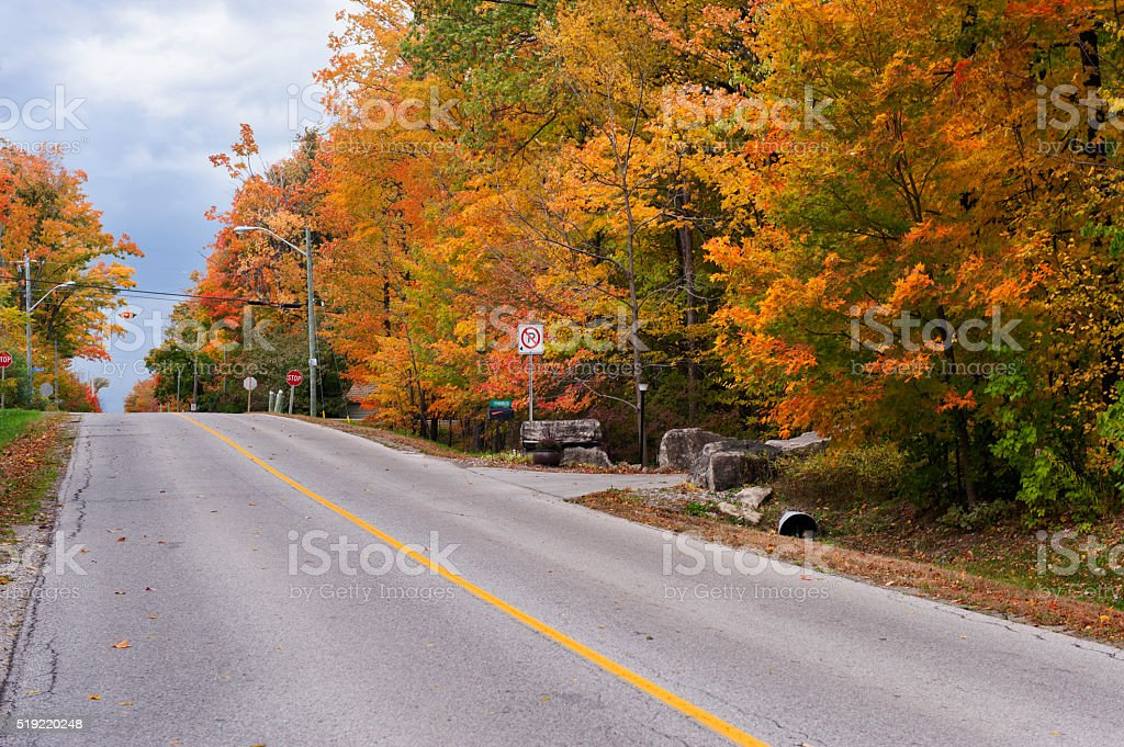 Highway in Fall stock photo