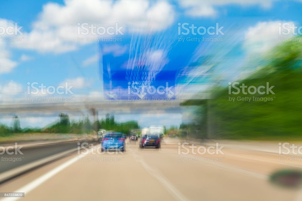 Highway in France stock photo