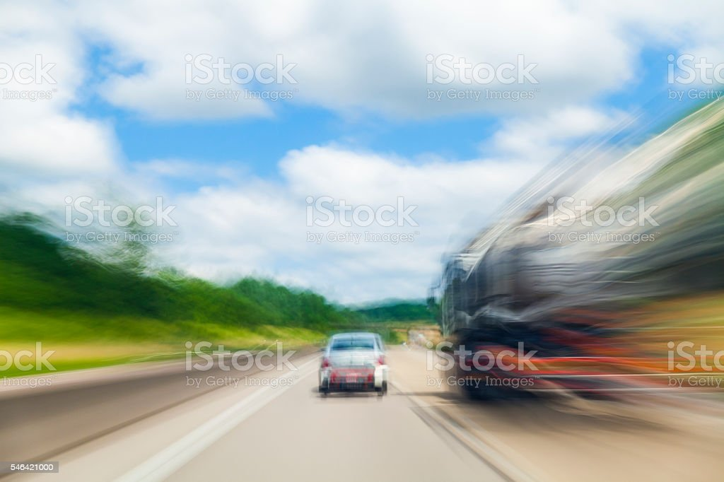Highway in Germany stock photo