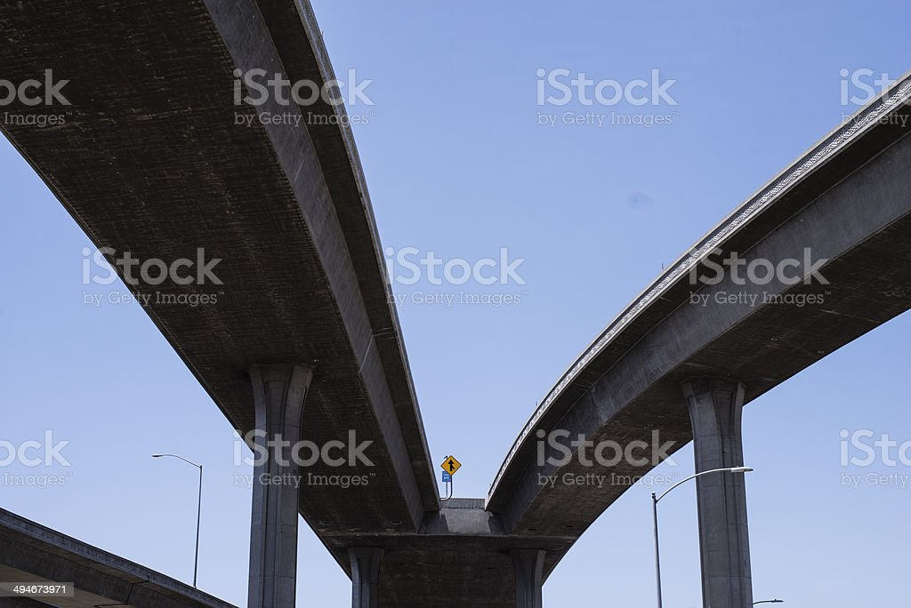 Highway in Los Angeles stock photo