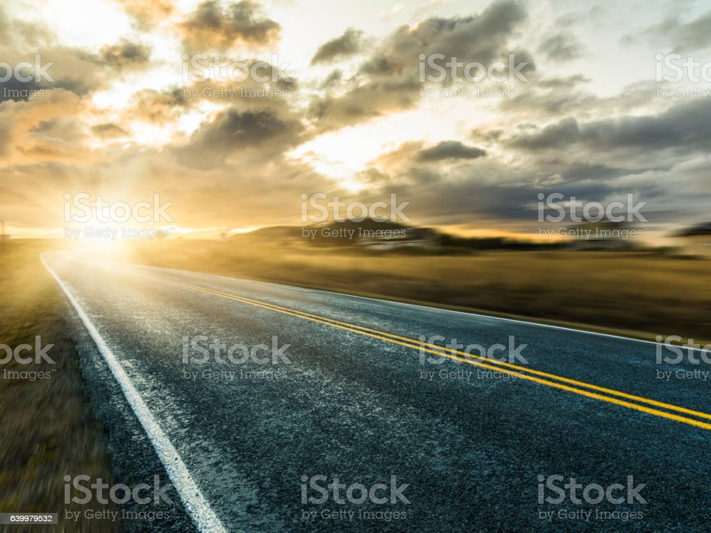 highway in motion stock photo