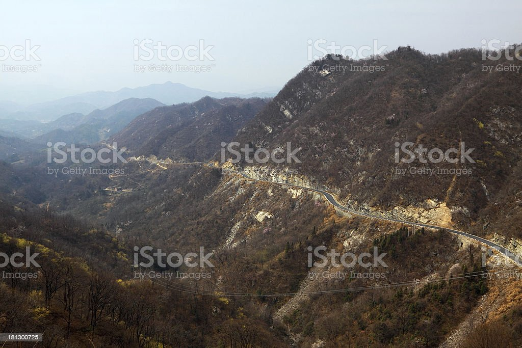 Highway In Mountains royalty-free stock photo