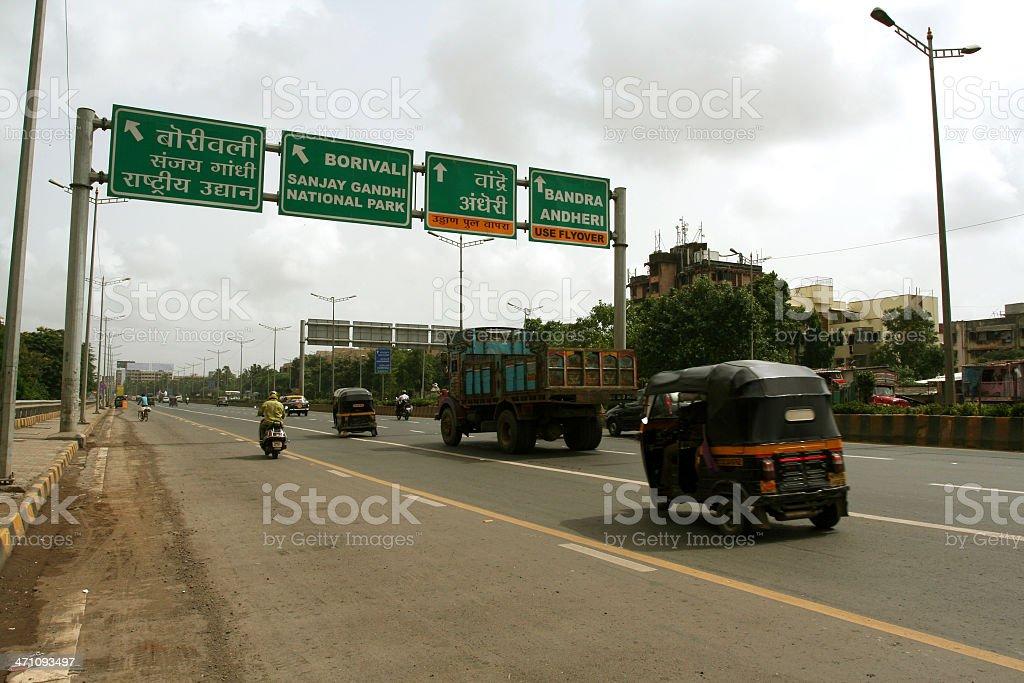 Highway in Mumbai royalty-free stock photo