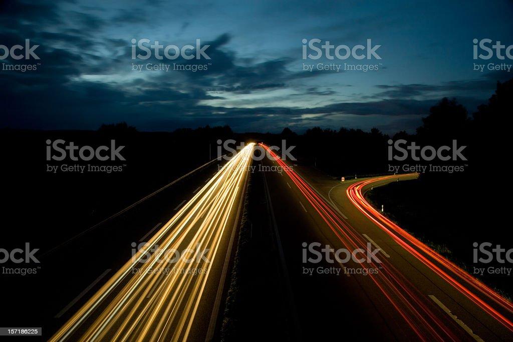 highway in the dark II royalty-free stock photo