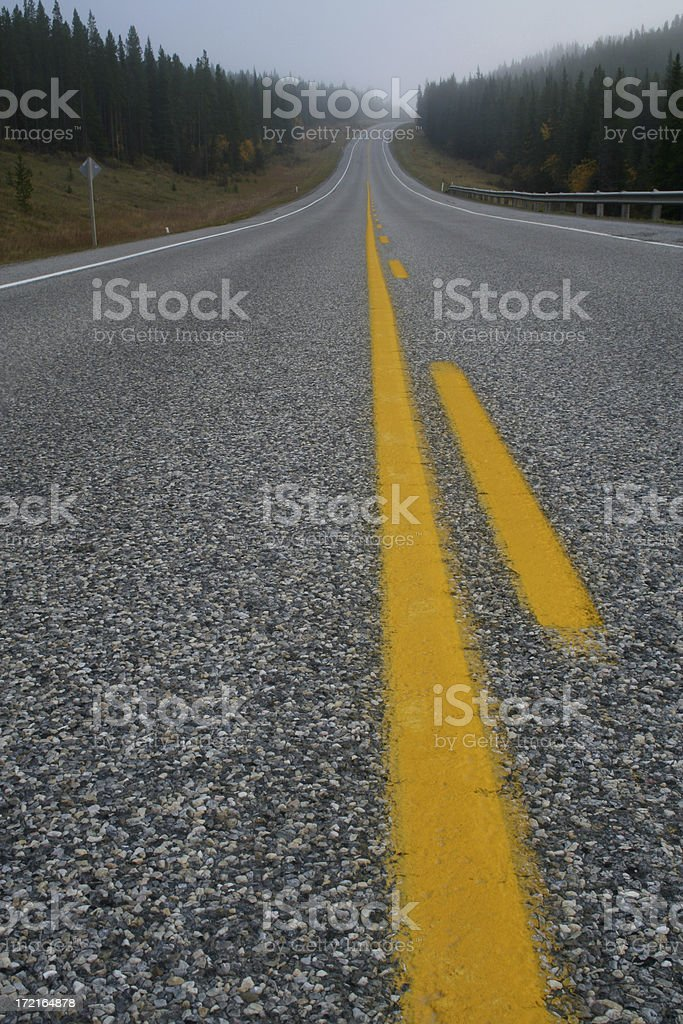 Highway in the Fog royalty-free stock photo