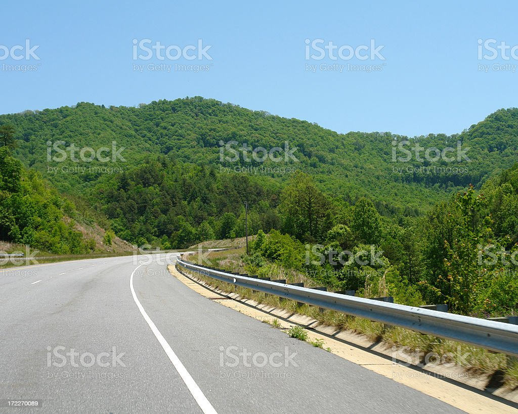 Highway In The Hills Of North Carolina royalty-free stock photo