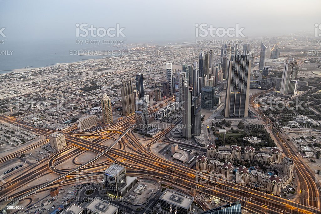 Highway interchange in Dubai royalty-free stock photo