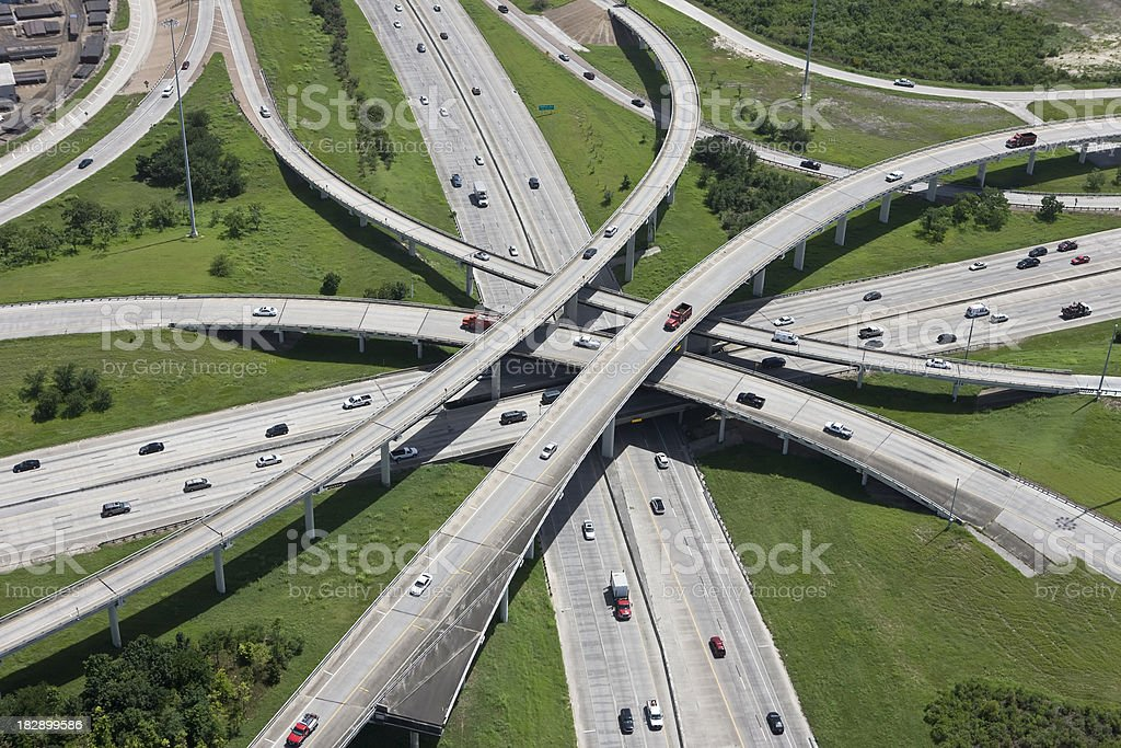 Highway Interchange Infrastructure stock photo