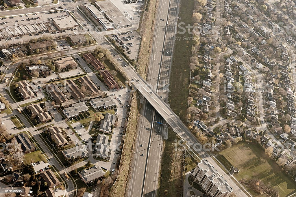Highway Intersections Aerial View royalty-free stock photo