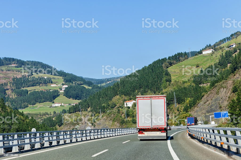 Highway into nature stock photo