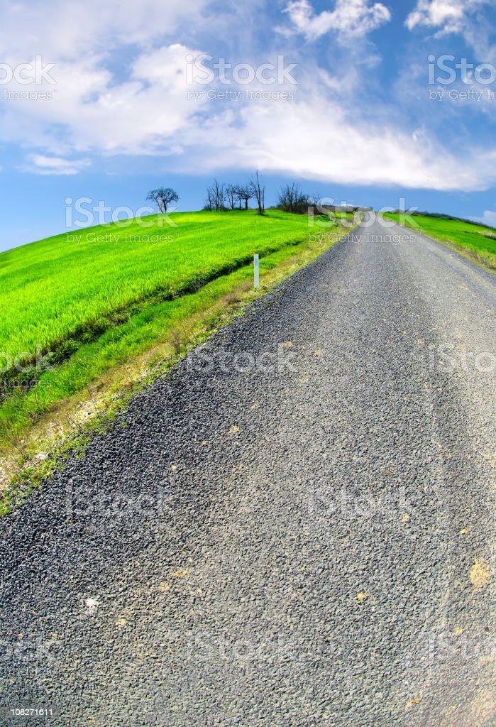 highway landscape royalty-free stock photo