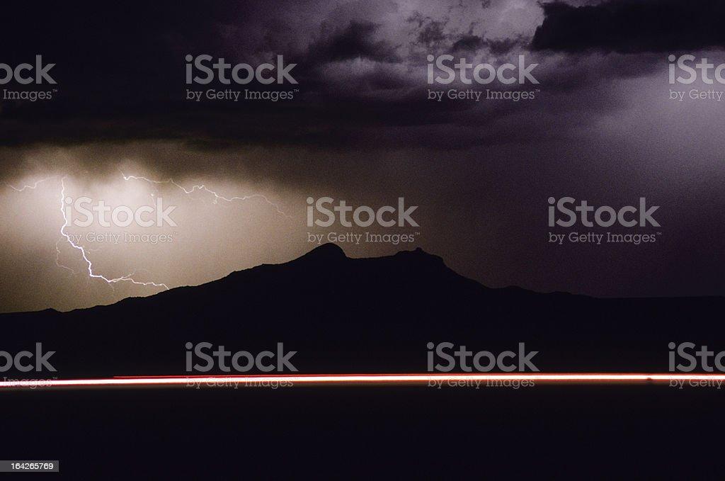 Highway Lightning royalty-free stock photo